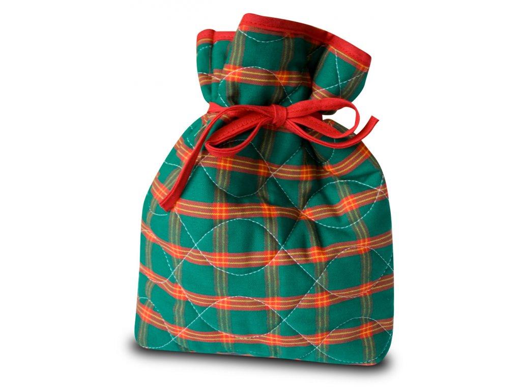 Vánoční nadílkový pytlíček zelený