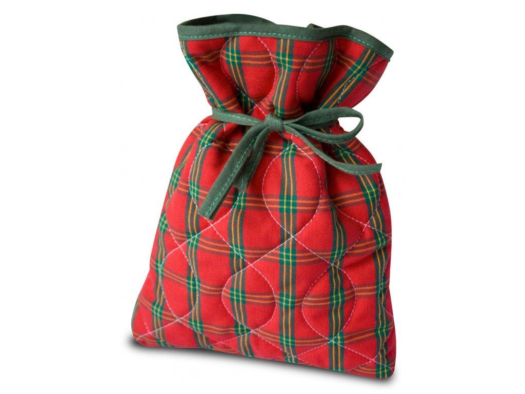 Vánoční nadílkový pytlíček červený