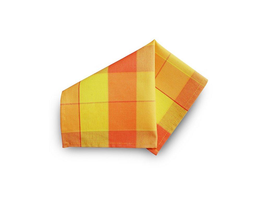 Prostírka 30x30 cm - žlutá, oranžová kostka