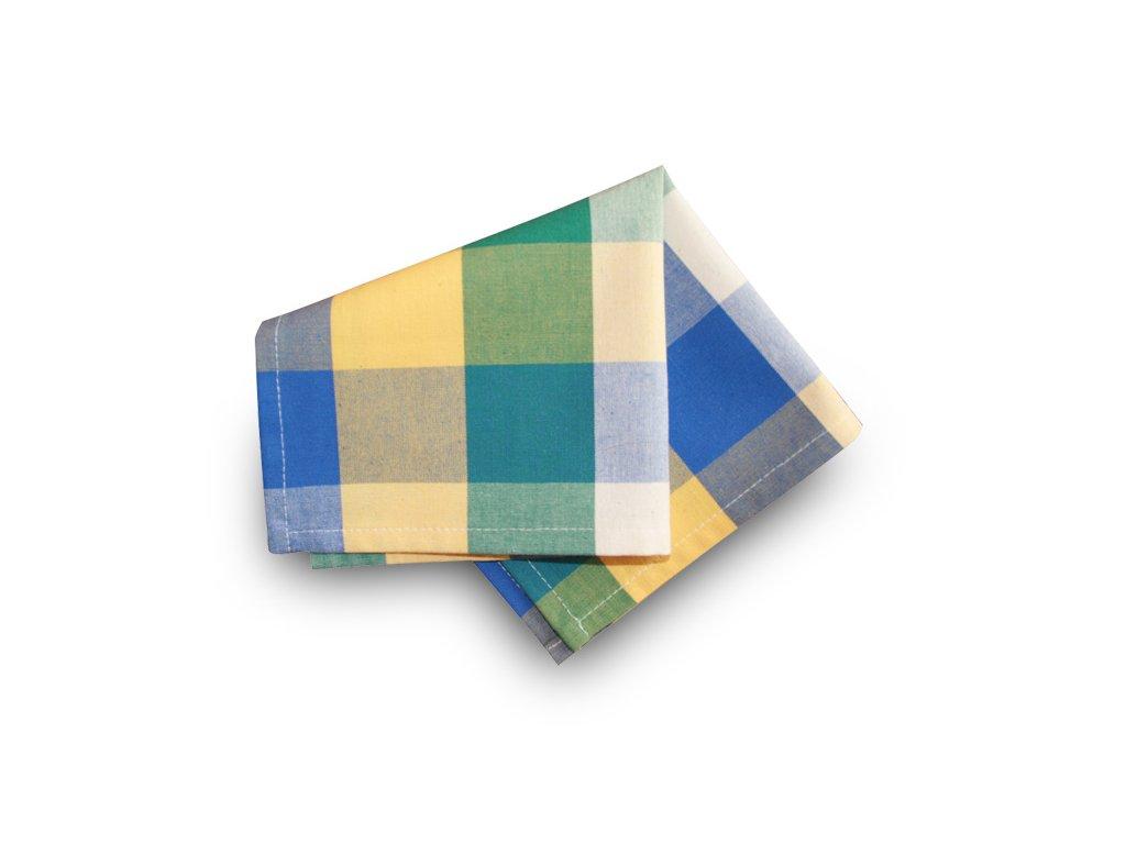 Prostírka 30x30 cm - zelená, modrá, žlutá kostka