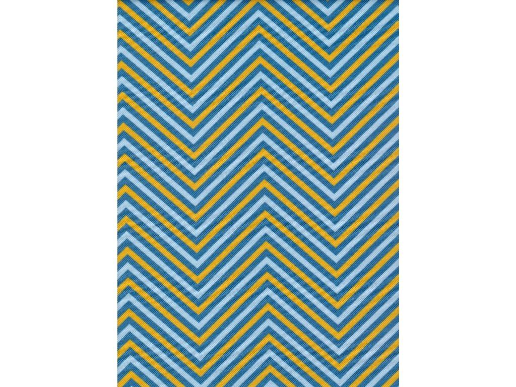 Lehátkovina žlutá a modrá abstraktní vzor