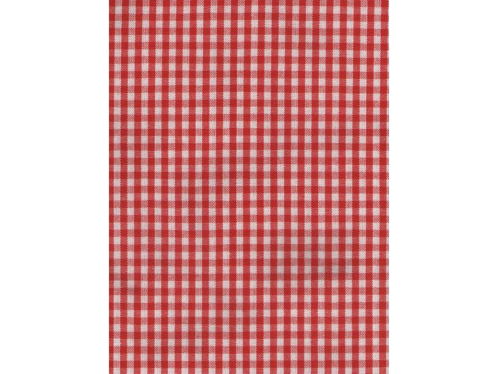 Ubrus70x70  cm červená kostička
