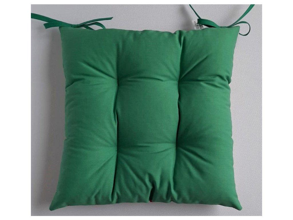 Sedák na židli zelený - 40 x 40 cm