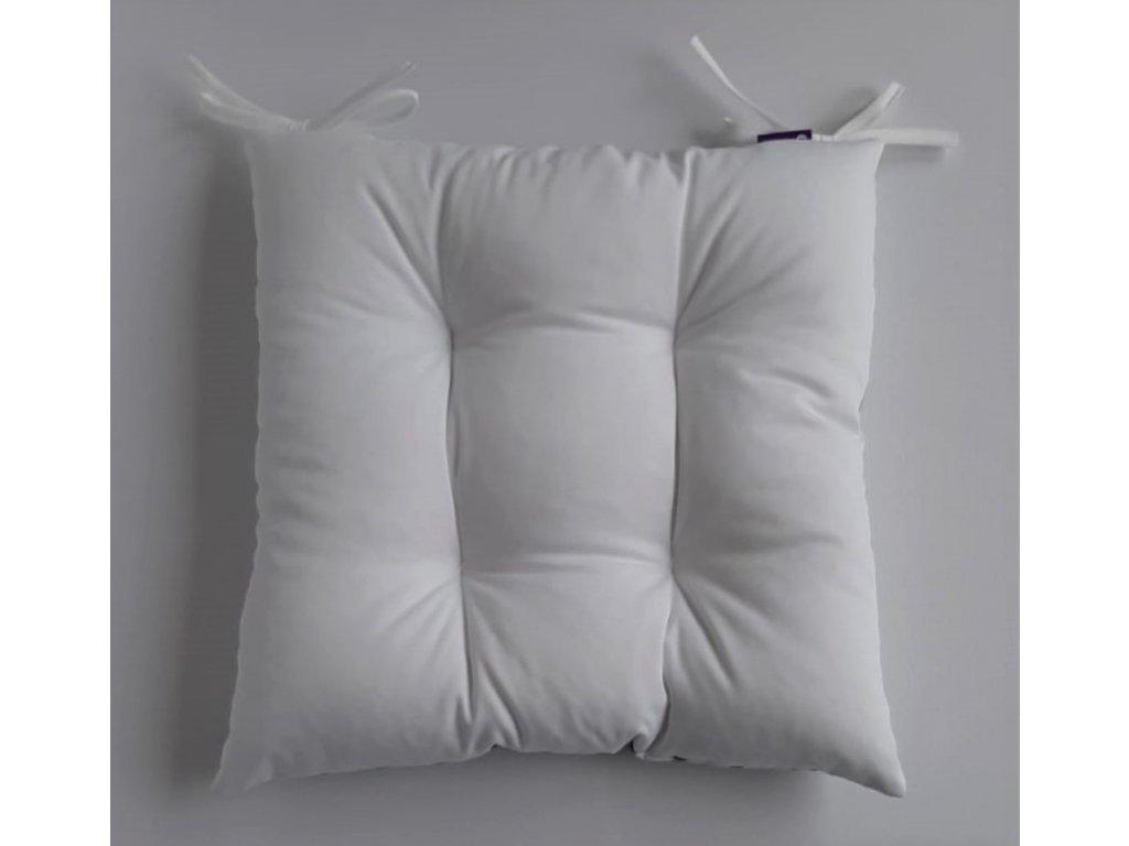 Sedák na židli s výplní bílý 40 x 40 cm