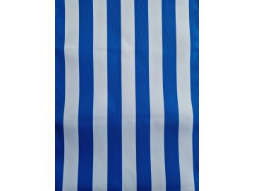 Lehátkovina  modro-bílá pruh šíe 45 cm