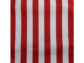 Lehátkovina pruh červeno-bílá šíře 45 cm