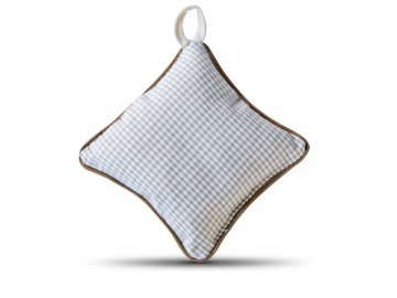 Jehelníček kostička hnědý lem