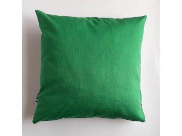 polštář a povlak zelený