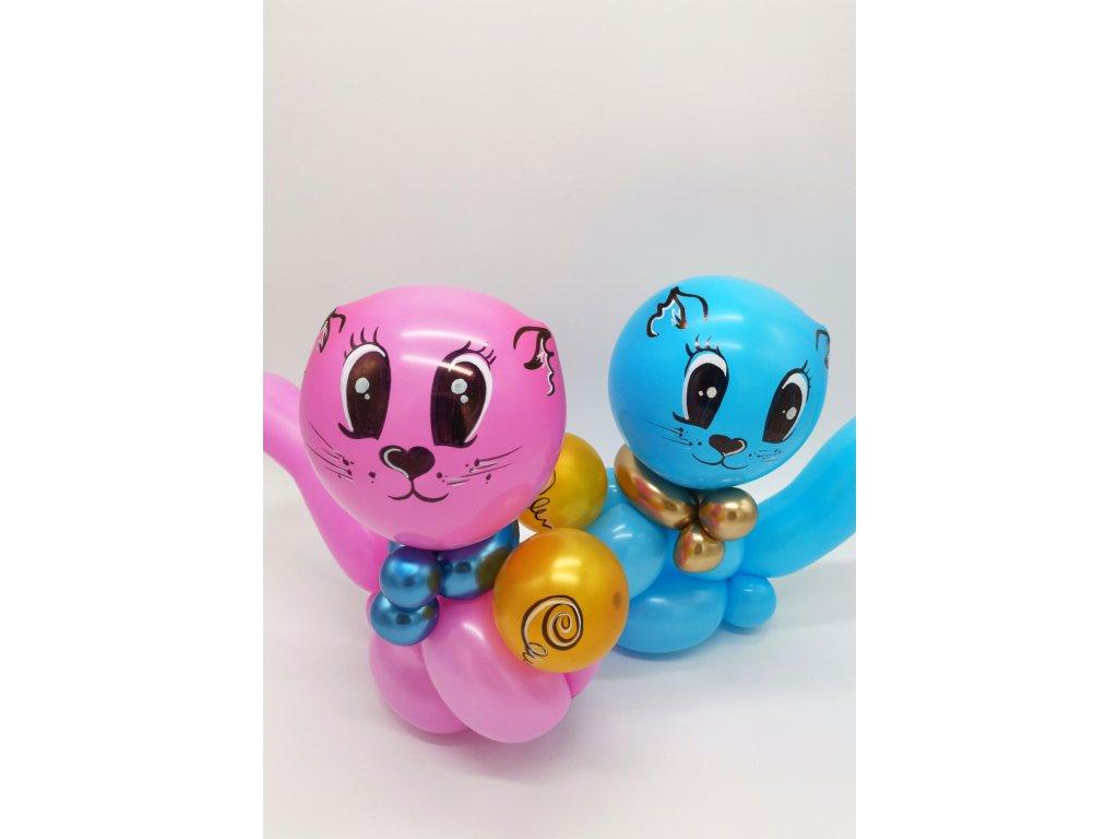 kočka kočička z balonků dárek pro děti (1)