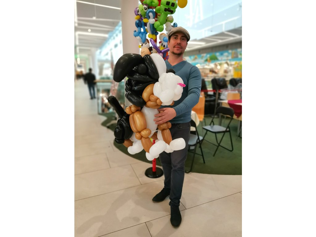 balónkový pes bernardýn pro děti