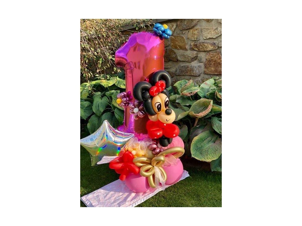 Mickey Mouse Minnie dárek balónky jednička
