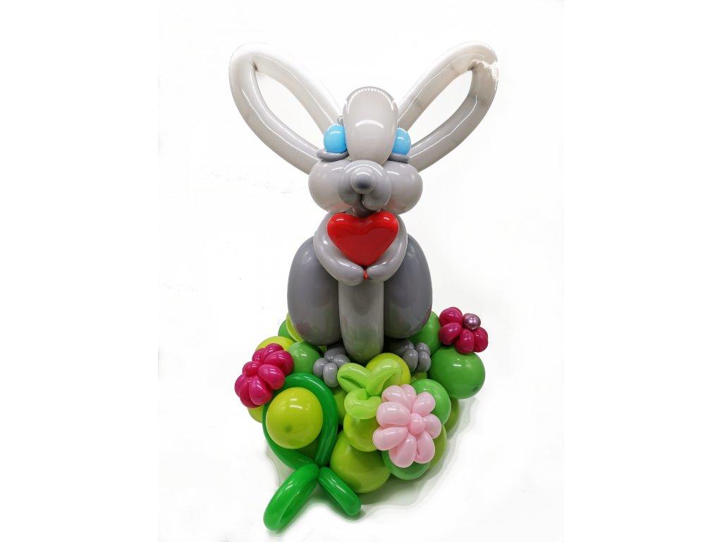 zajíc králík dárek pro děti z balónků