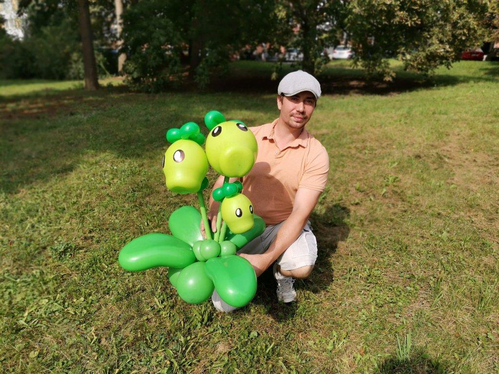 zombie versus plants dárek z balónků dárky k narozeninám (1)