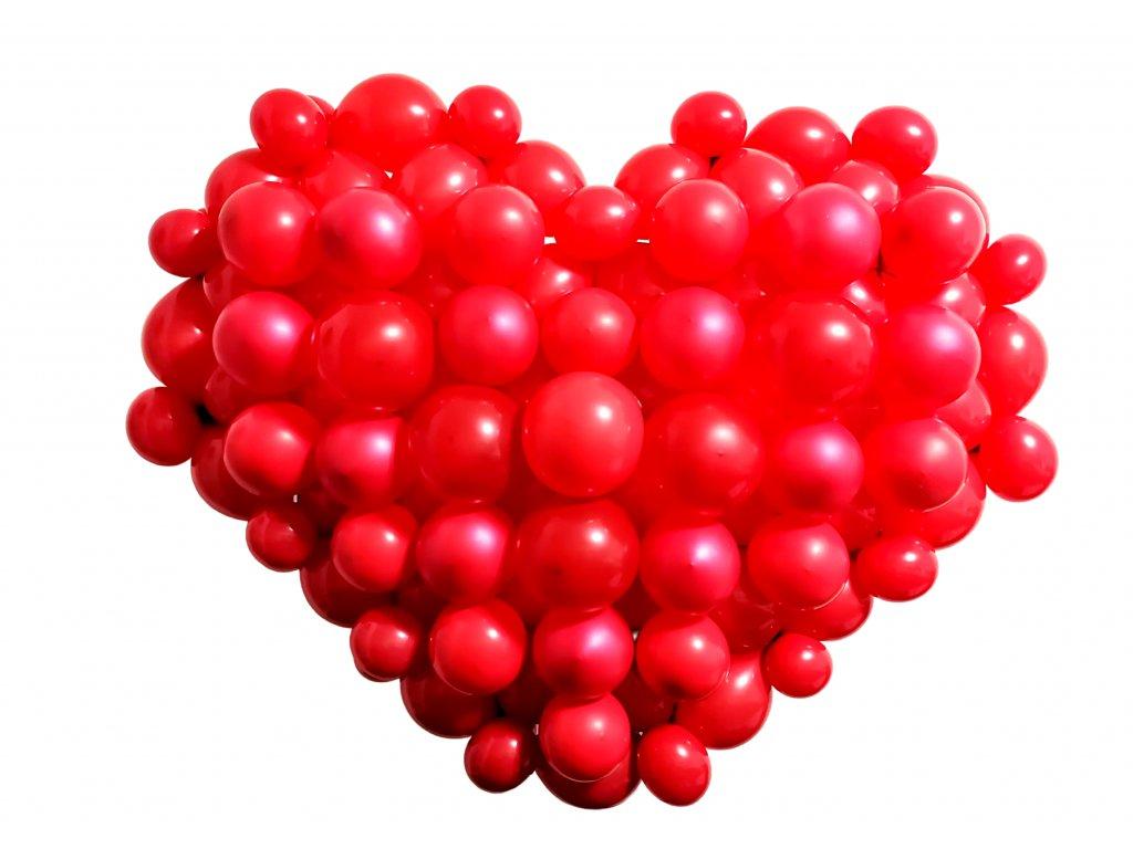 Valéntýnský dýrek ke valentýnu srdce z balónků balonky z lásky (6)