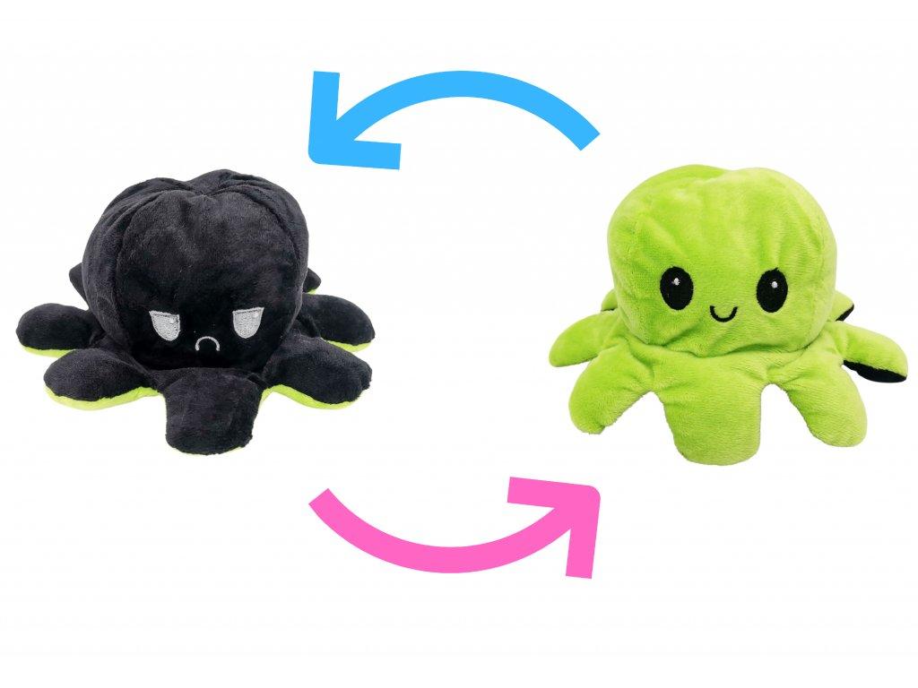 chobotnička chobotnice plyšák oboustranný dárek pro děti (1)
