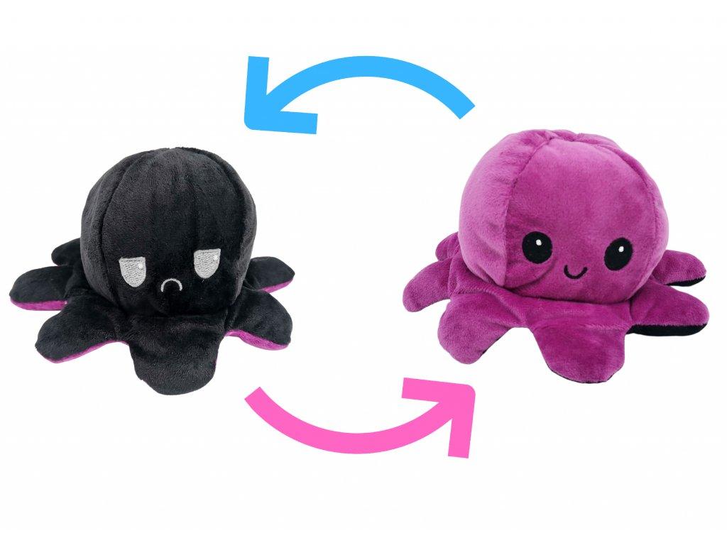 chobotnička chobotnice plyšák oboustranný dárek pro děti (2)
