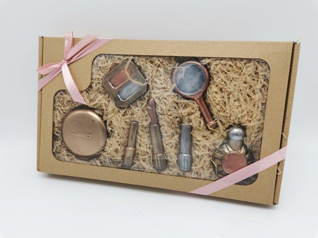 čokoládové nářadí čokoláda čokoládová sada dárek KOSMETIKA MAKE UP KOSMETIČKA KOSMETIČKU DÁREK PRO ŽENU