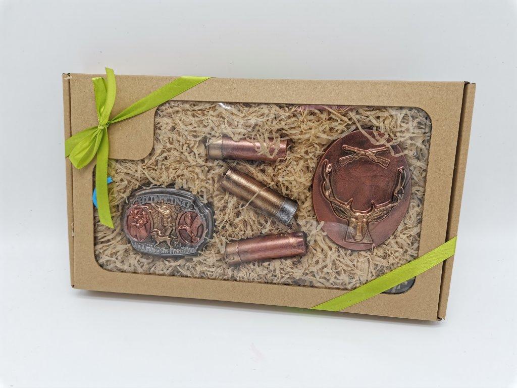 čokoládové nářadí čokoláda čokoládová sada dárek myslivce myslivec