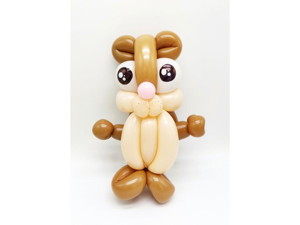 balónkový křeček morče hračka pro děti dárek