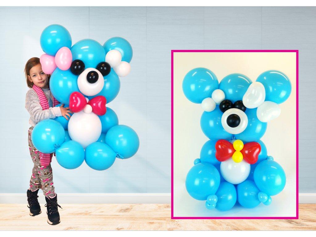 medvídek méďa dárek dárky pro děti z balónků balónkový méďa (1)