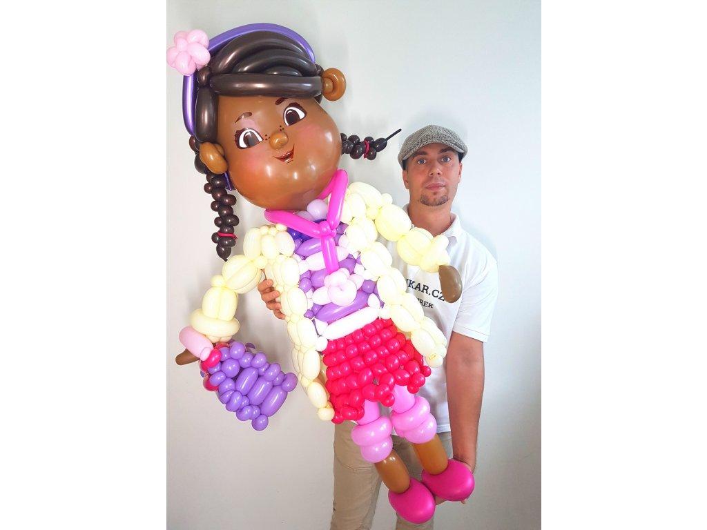 doktorka plyšáková z balónků balónky dárek pro děti dárky hračka (3)