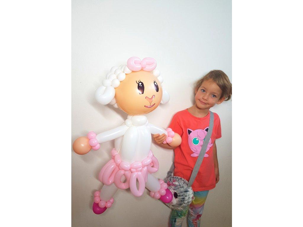doktorka plyšáková z balónků balónky dárek pro děti dárky hračka lambie vlnka