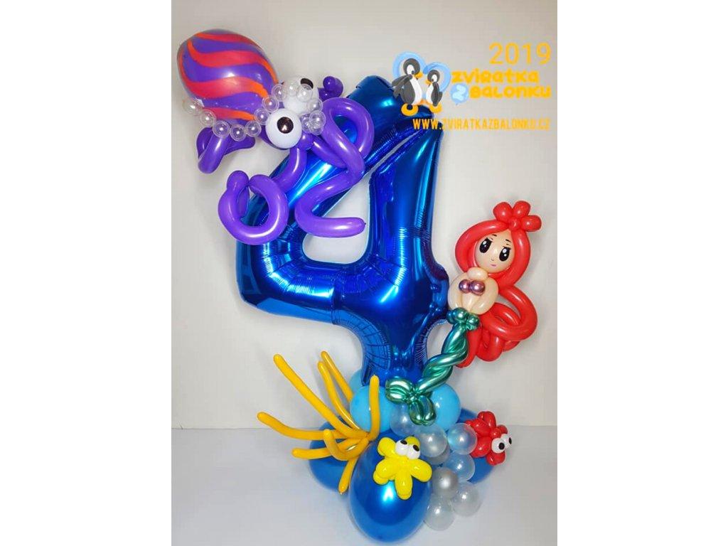 balónková z balónků balónky pořská panna vína dárek dárky pro děti (1)