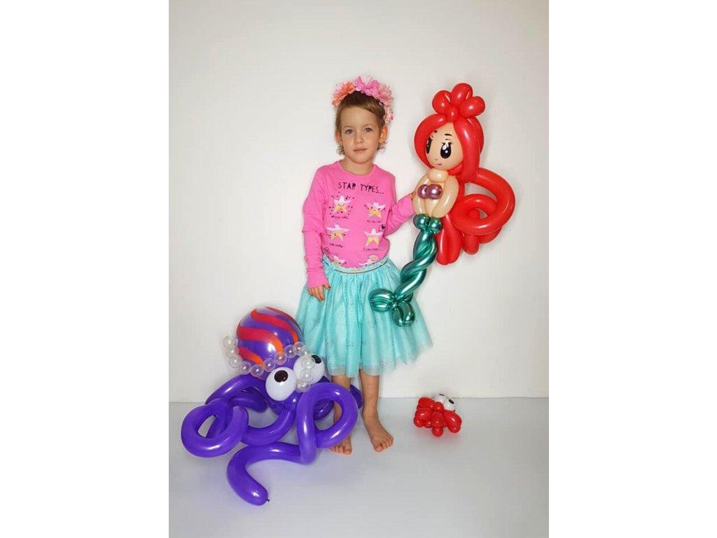 balónková z balónků balónky pořská panna vína dárek dárky pro děti (2)