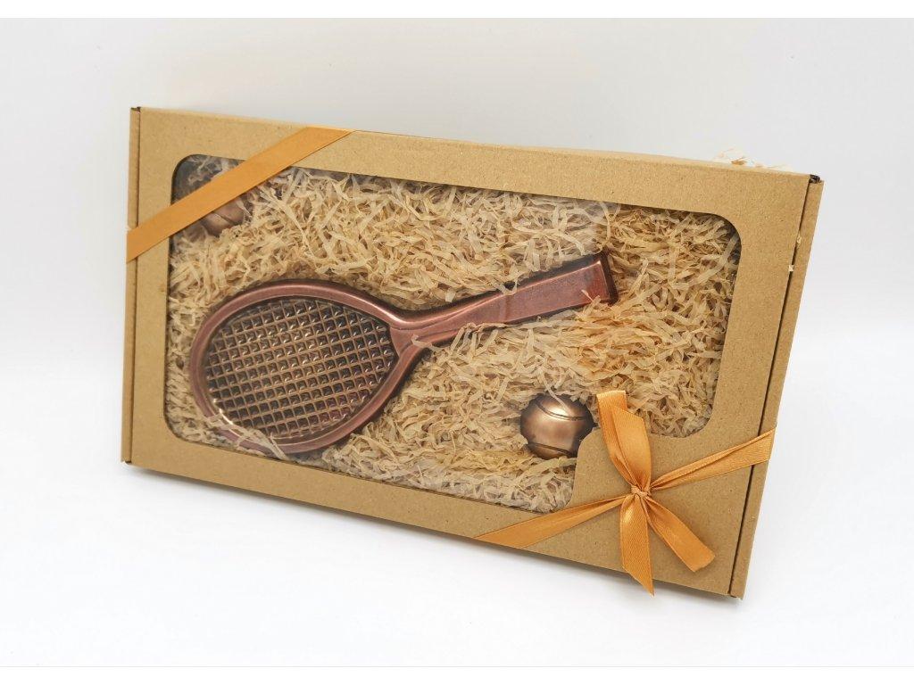 čokoládové nářadí čokoláda dárek pro něj ni dárky valentýn tenis tenisová raketa tenista