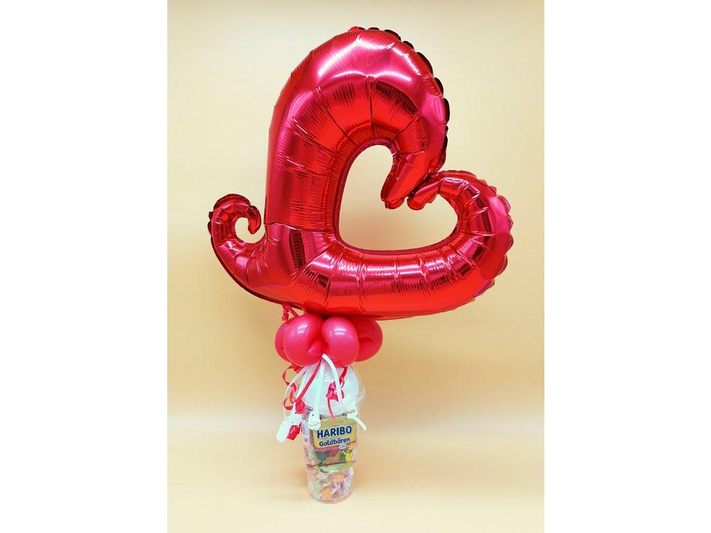 valentýn srdce kelímek balónky narozeninové párty z balónků (2)