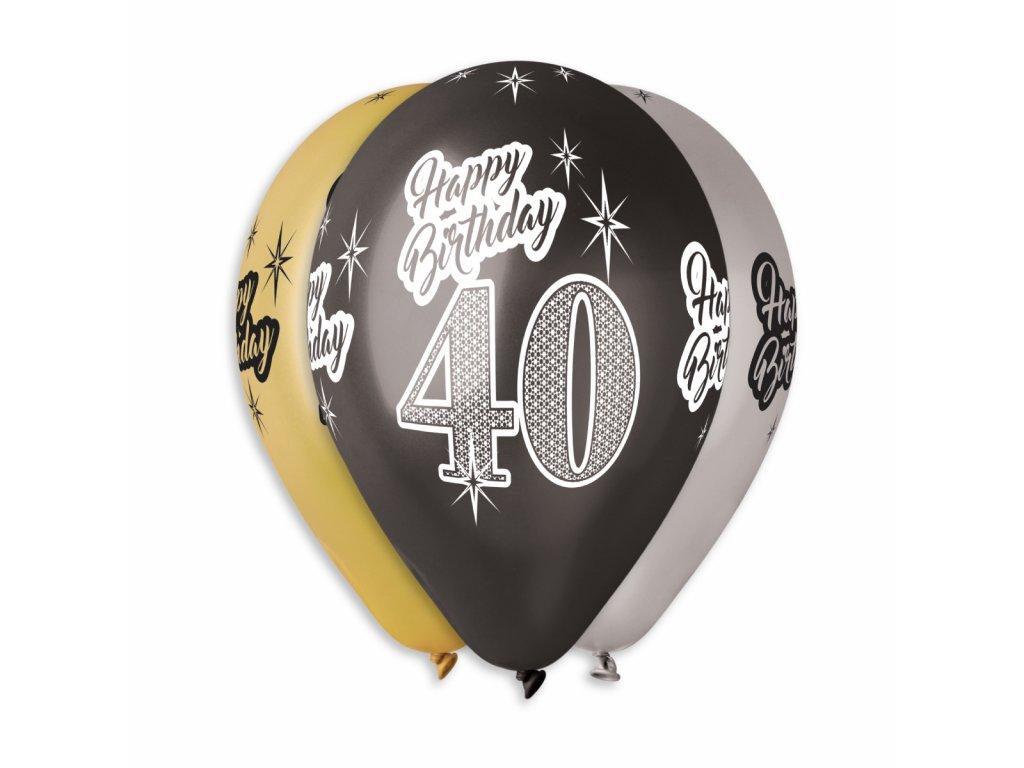 Balónky s čísly 40