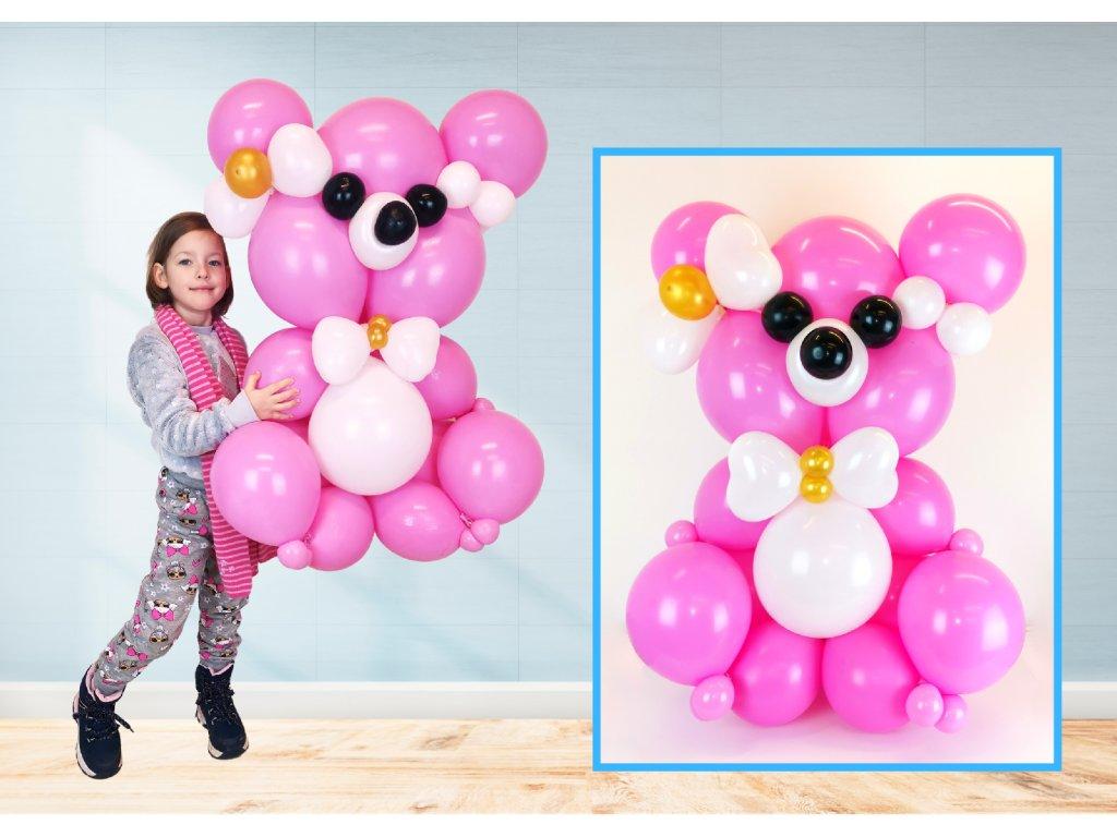 medvídek méďa dárek dárky pro děti z balónků balónkový méďa (2)