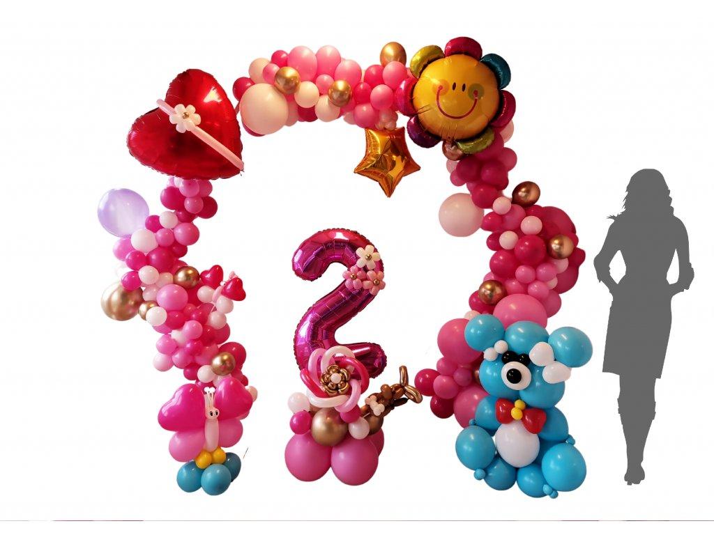 párty balónky narozeninové balonky balonky s čísly medvídek dárky pro děti (1)