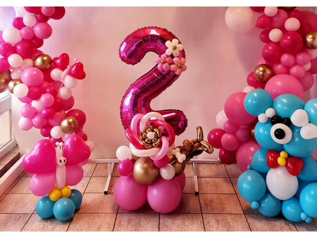 párty balónky narozeninové balonky balonky s čísly medvídek dárky pro děti (2)