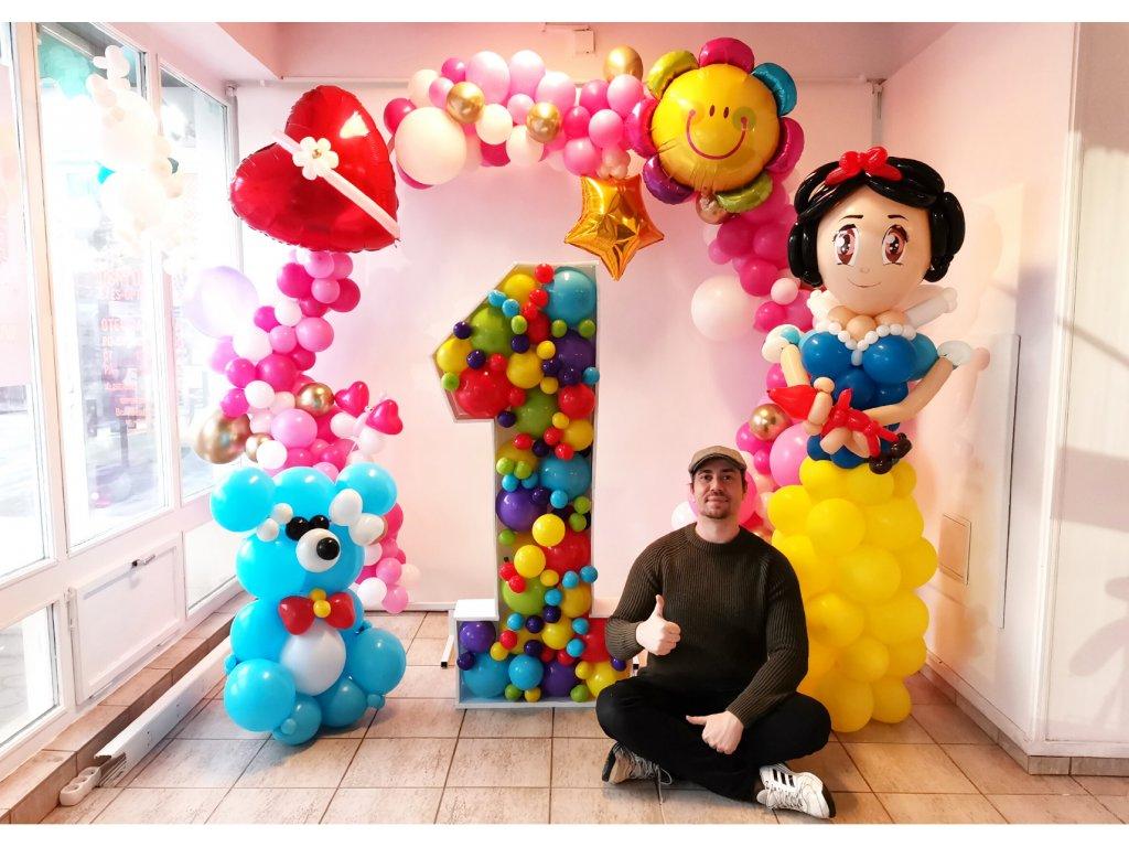 párty balónky narozeninové balonky balonky s čísly medvídek dárky pro děti dekorace z balónků balónky (1)