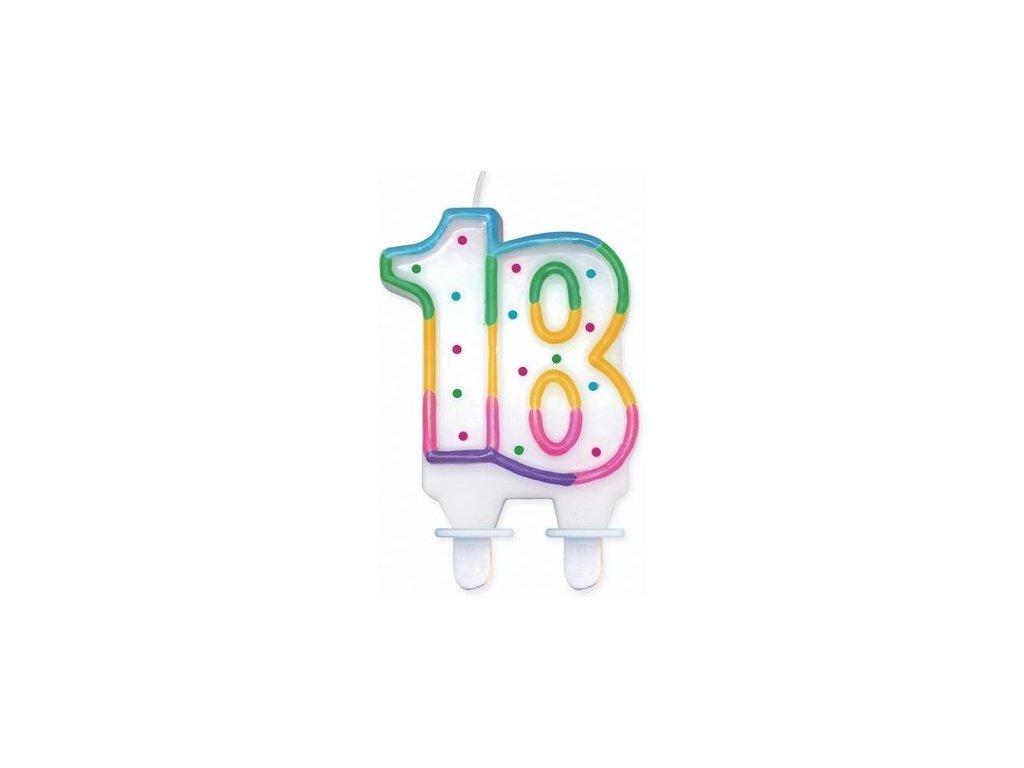 narozeninová svíčka svíčky dortová svíčka na dort 18