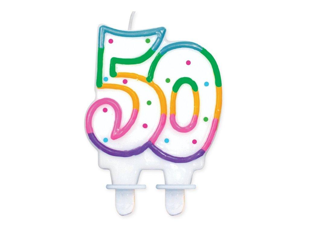 narozeninová svíčka svíčky dortová svíčka na dort 50