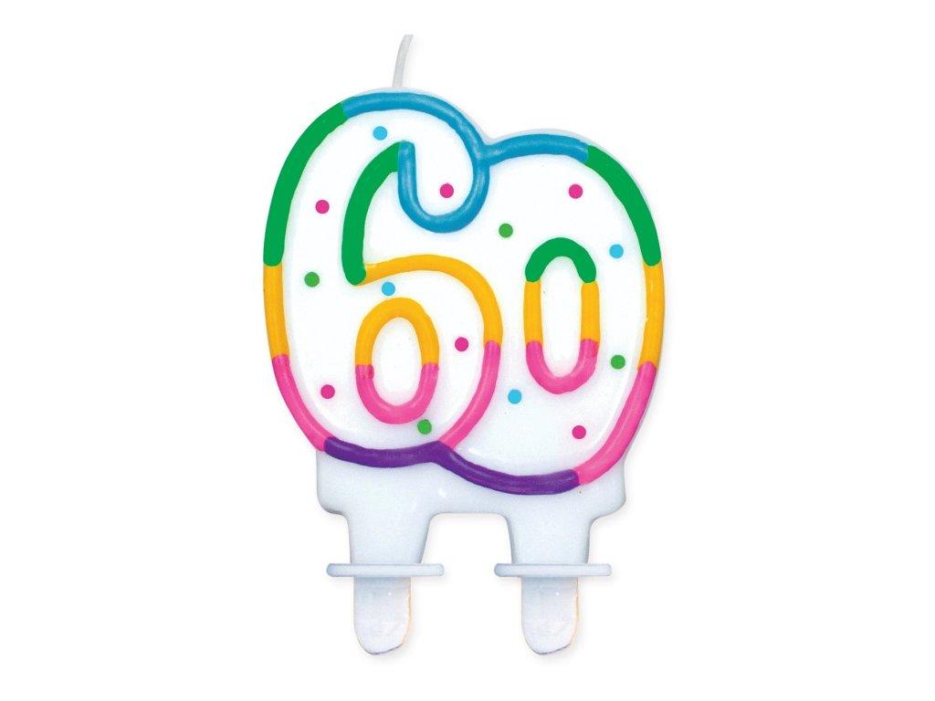 narozeninová svíčka svíčky dortová svíčka na dort 60