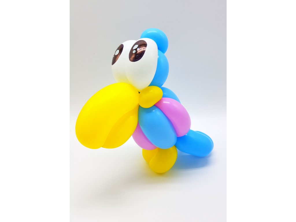 papoušek z balonků