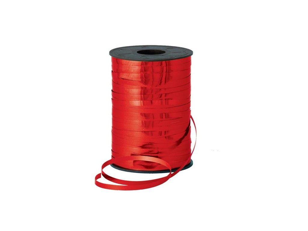 metalická červená stuha na dárky na balónky