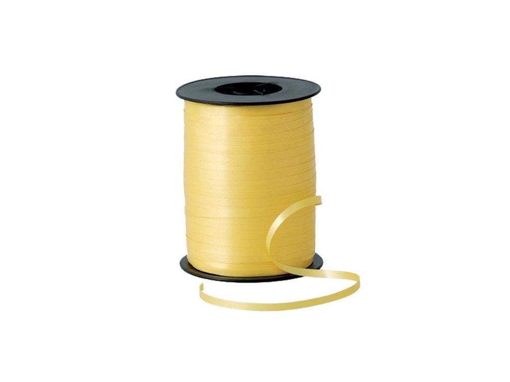 žlutá stuha na dárky na balónky