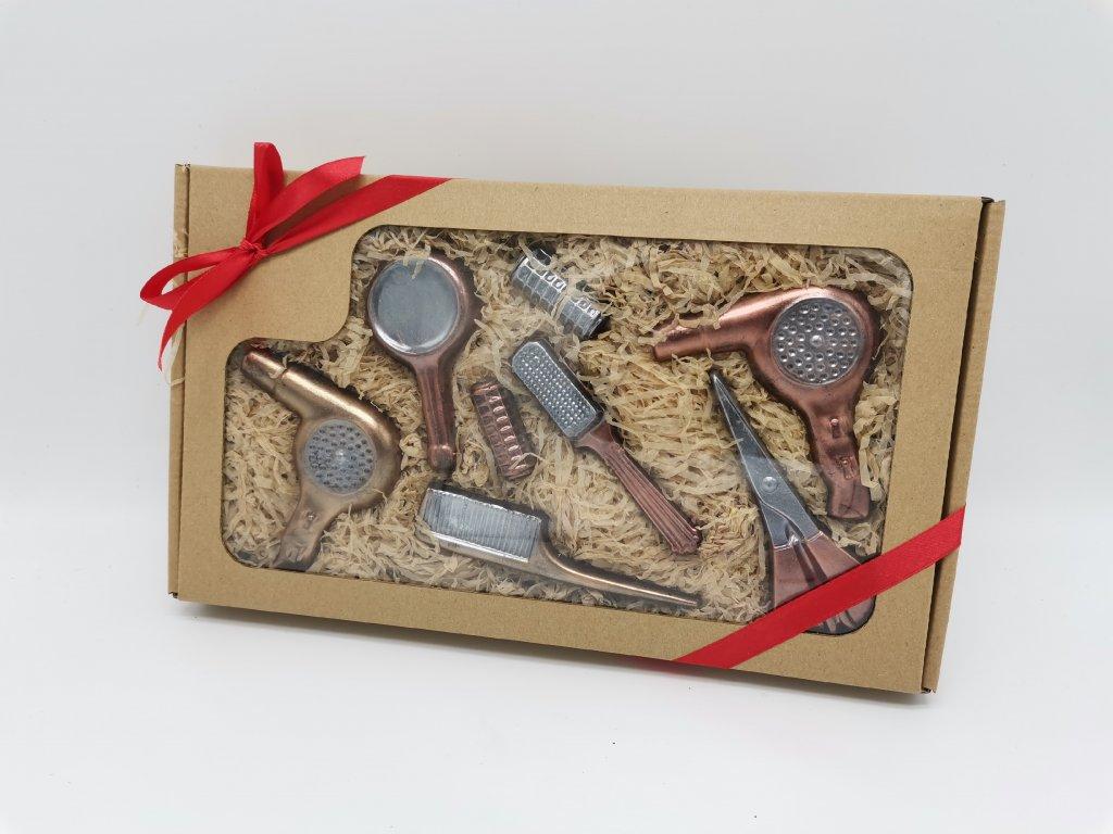 čokoládové nářadí čokoláda čokoládová sada dárek pro kadeřnice kadeřnictví