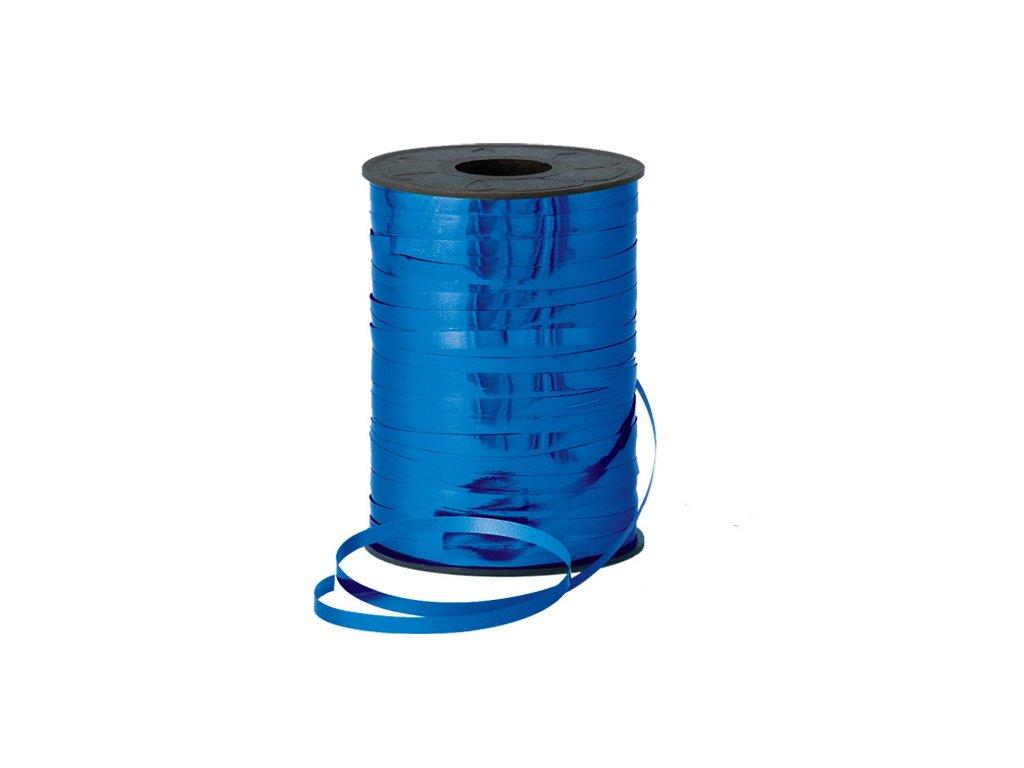 metalická modrá stuha na dárky na balónky