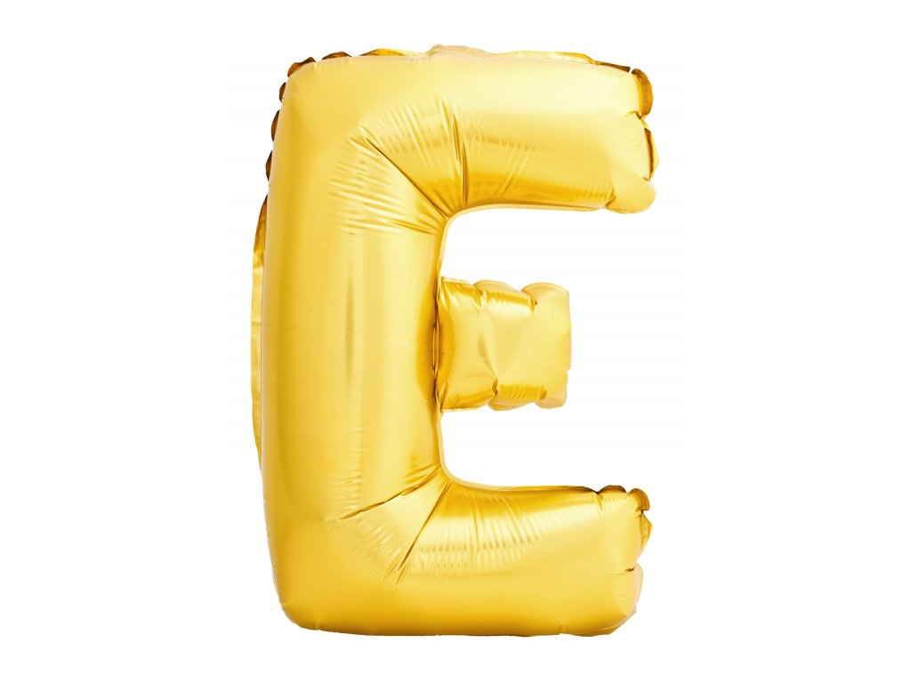 letter e made inflatable balloon isolated white background