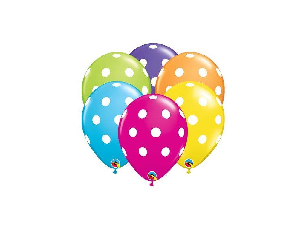 pastelové puntíky balónky s konfety narozeninové balonky párty