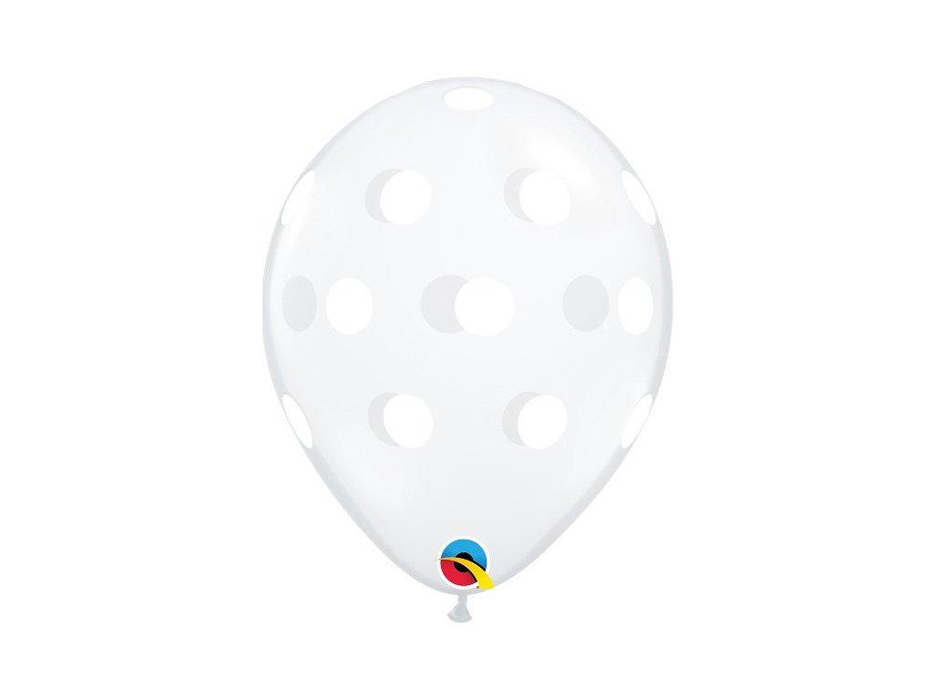 zlaté bílé puntíky puntíky balónky s konfety narozeninové balonky párty