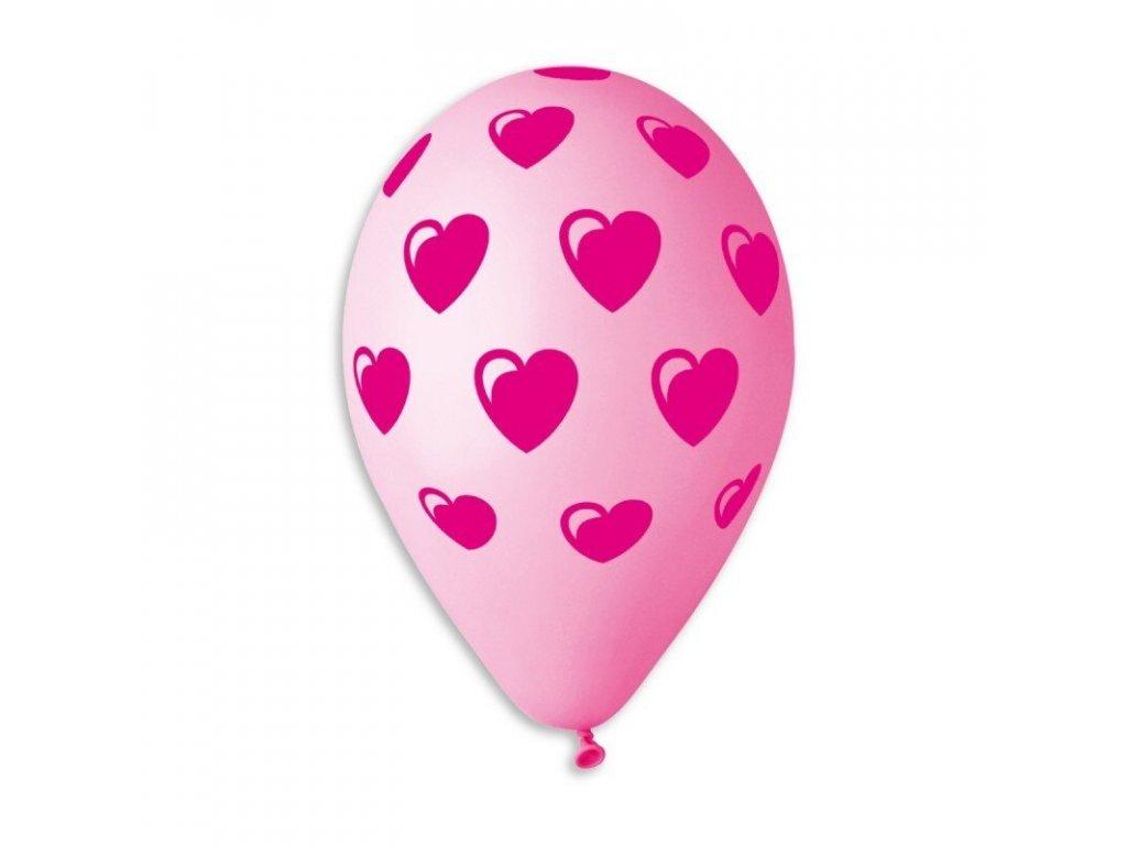 zlaté balónky s konfety narozeninové balonky párty svatební srdce srdíčka srdce