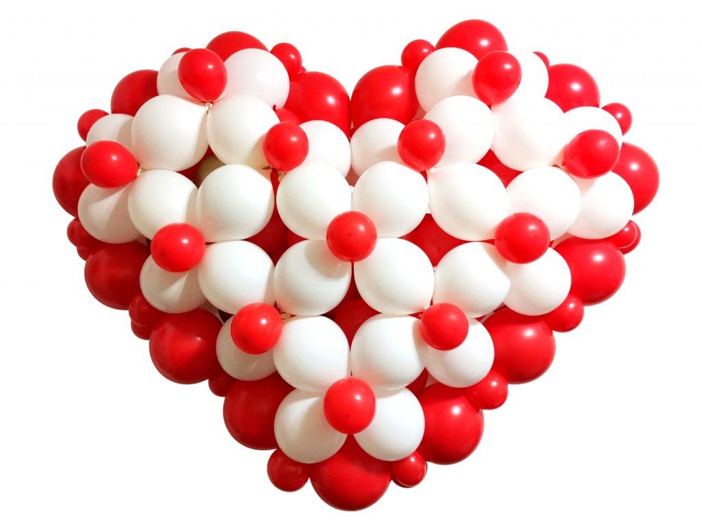 Valéntýnský dýrek ke valentýnu srdce z balónků balonky z lásky (5)