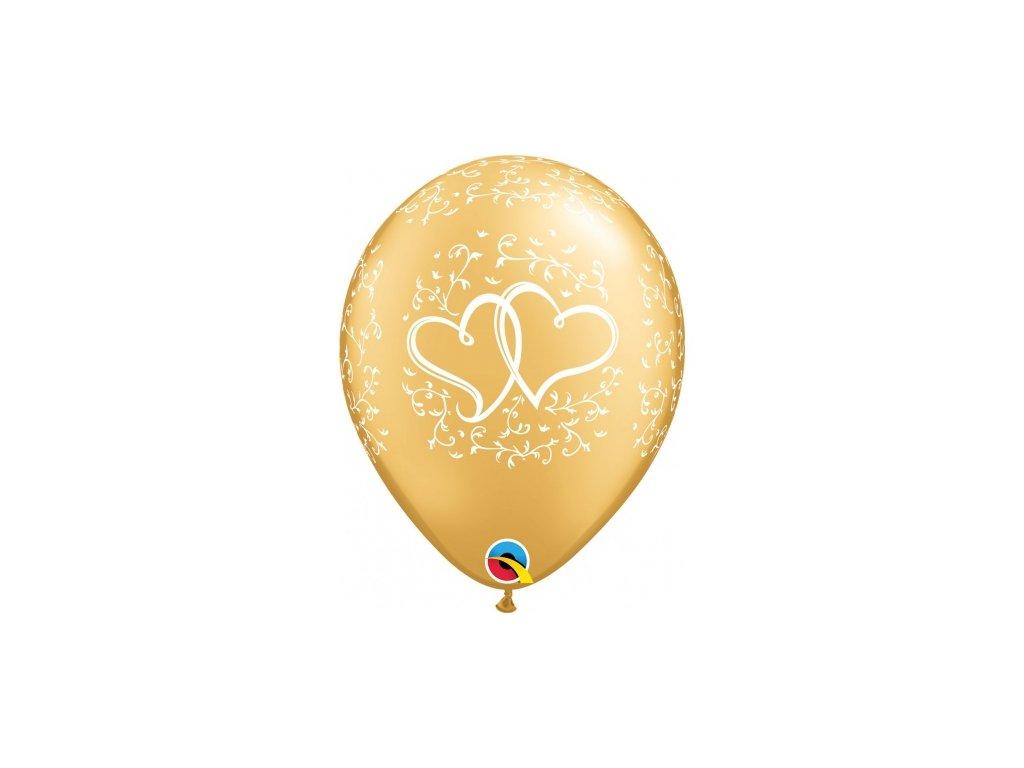zlaté balónky s konfety narozeninové balonky párty svatební