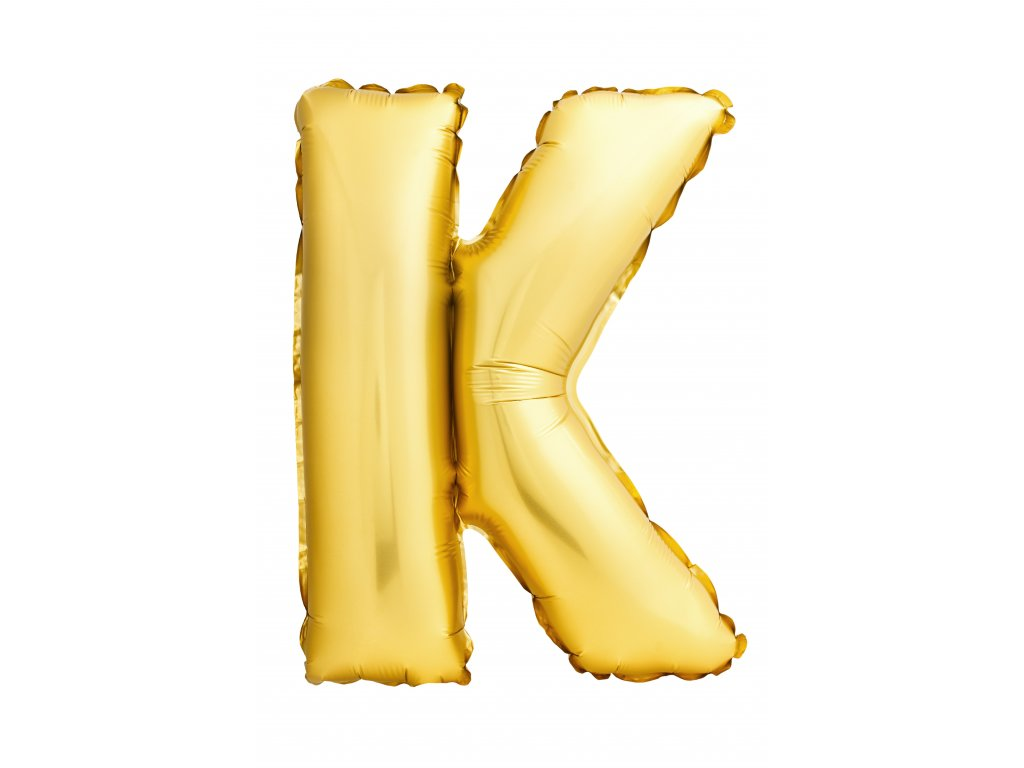 letter k made inflatable balloon isolated white background